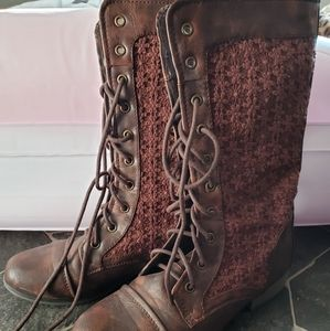 Forever lace up boots